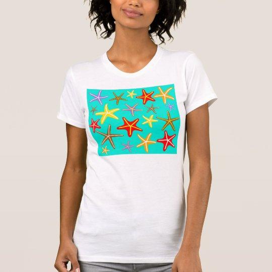"""Starfish im Meer"" Entwurf T-Shirt"