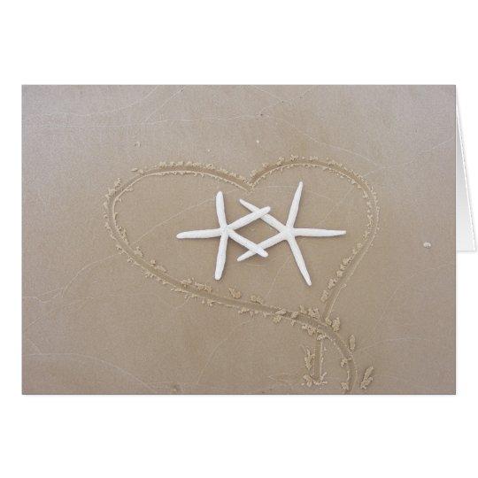 Starfish in der Herz-Karte Grußkarte