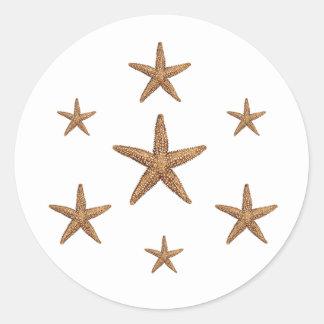 Starfish kopieren (geometrisch) runder aufkleber