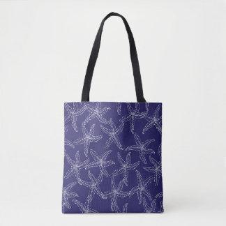 Starfish-Marine-Blau-Taschen-Tasche Tasche