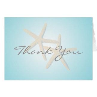 Starfish-Ozean-Träume danken Ihnen Mitteilungskarte
