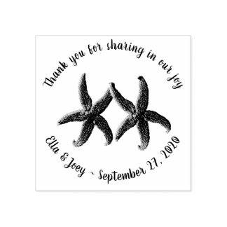 Starfish-Paar-Hochzeit danken Ihnen Gummistempel