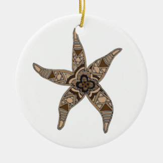 Starfish Rundes Keramik Ornament