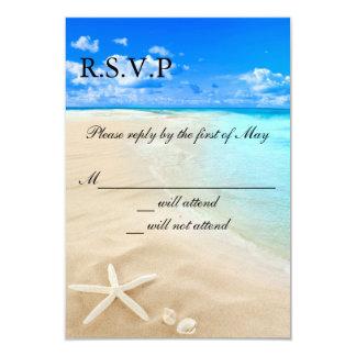 Starfish-Strand-Hochzeit UAWG Karten-Einladung 8,9 X 12,7 Cm Einladungskarte