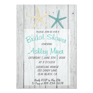 Starfish-Strand-Hochzeits-Brautparty-Einladung Karte