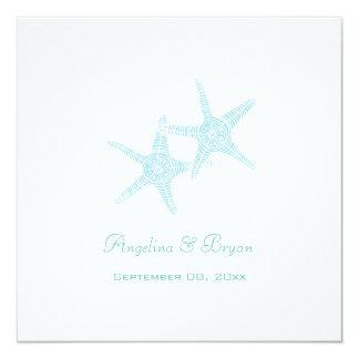 Starfish-Strand-Hochzeits-Einladung Karte