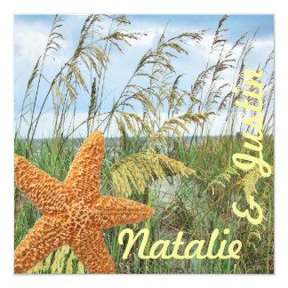 Starfish-Strand-Polterabend Quadratische 13,3 Cm Einladungskarte