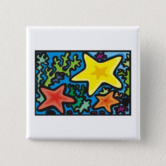 Starfish-Trio Quadratischer Button 5,1 Cm