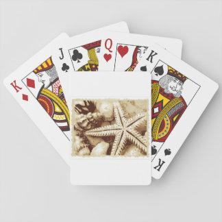 Starfish-und Seashells-Spielkarten Spielkarten
