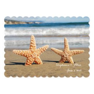 Starfish verbinden auf der 12,7 x 17,8 cm einladungskarte