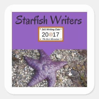 Starfishaufkleber! Quadratischer Aufkleber