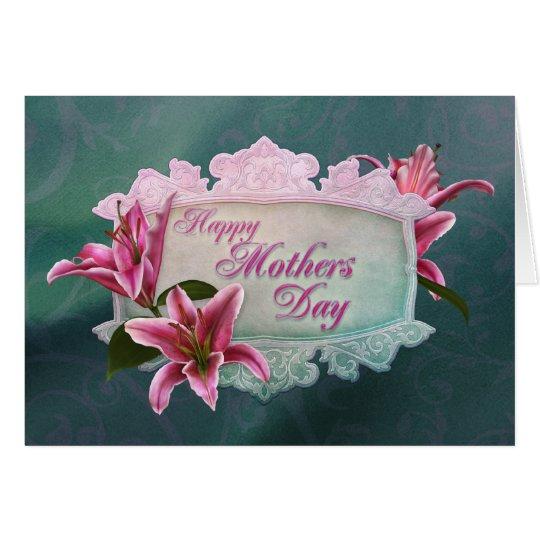 Stargazer-Lilien-Karte der Mutter Tages Grußkarte