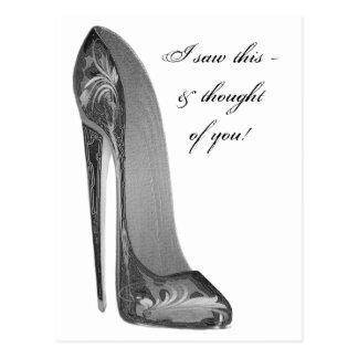 Starke Absatz-Stilett-Schuh-Kunst-Geschenke Postkarte