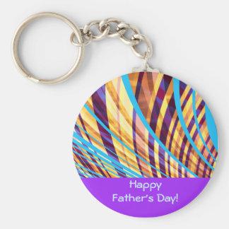 Starke der Vatertags-Streifen Standard Runder Schlüsselanhänger