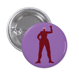 Starke Frau in einem rosa Hut Runder Button 3,2 Cm