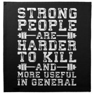 Starke Leute sind härter, - Training zu töten Stoffserviette
