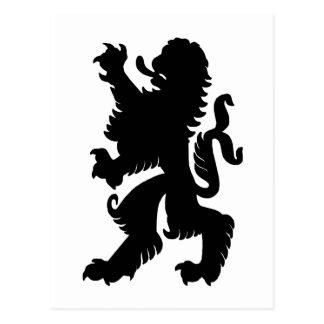 Starke Löwe-Postkarte