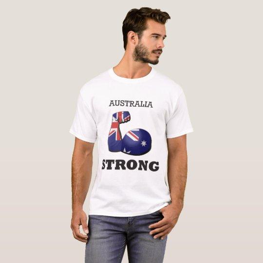 Starke Muskel-Flagge Australiens T-Shirt