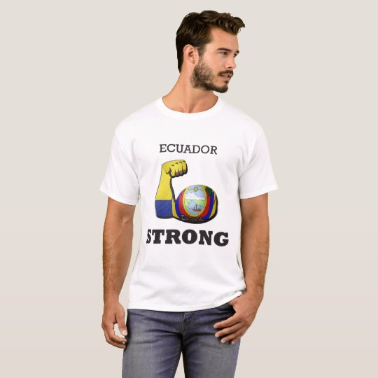 Starke Muskel-Flagge Ecuadors T-Shirt