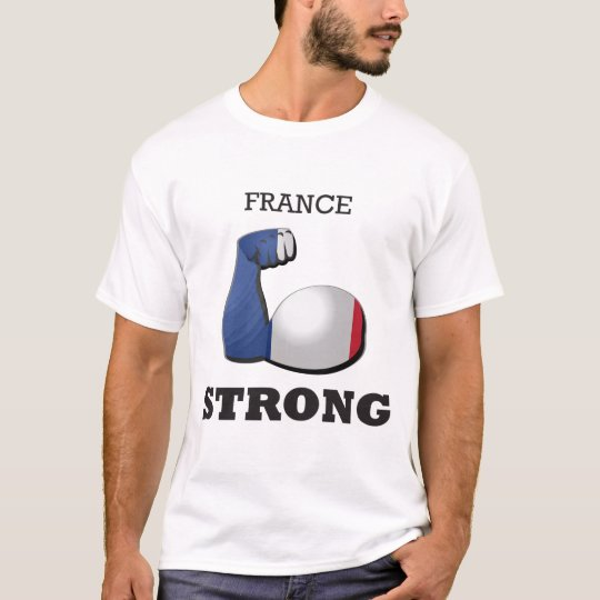 Starke Muskel-Flagge Frankreichs T-Shirt
