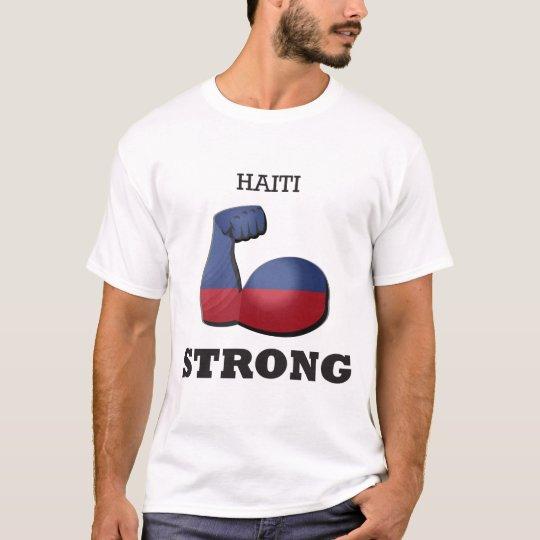 Starke Muskel-Flagge Haitis T-Shirt