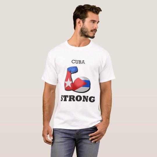 Starke Muskel-Flagge Kubas T-Shirt