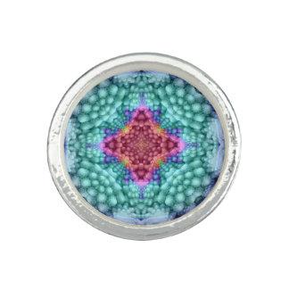 Starke starke blaue Kaleidoskop-   Foto Ringe