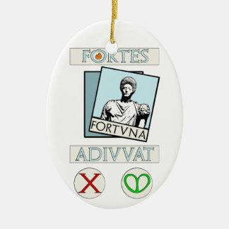 Stärken Fortuna Adiuvat Keramik Ornament