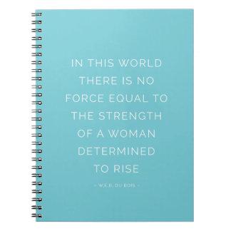Stärken-Frauen-inspirierend Zitat-Notizbuch-Blau Notizblock