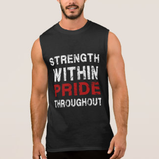 Stärken-und Stolz-Turnhallenmotivationsbehälter Ärmelloses Shirt