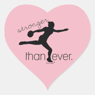 Stärker als überhaupt Herz-Aufkleber