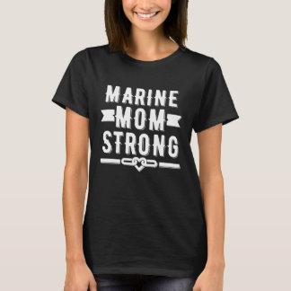 Starker Frauen der Marinemammas grafisch T-Shirt