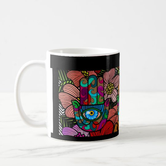 Starker Hamsa Garten Kaffeetasse