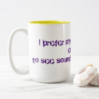 Starker Kaffee Zweifarbige Tasse