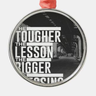 Stärkere Lektions-größerer Segen Silbernes Ornament