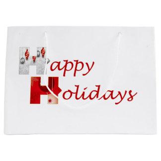 Stärkere zusammen frohe Feiertage Geschenk-Tasche Große Geschenktüte
