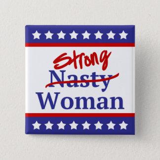Starkes ekliges Frauen-US Flagge Quadratischer Button 5,1 Cm
