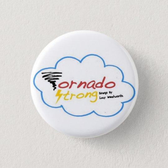 Starkes Logo-Abzeichen des Tornados Runder Button 2,5 Cm