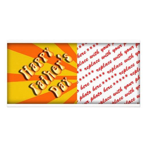 Starkes orange Retro für den Vatertag Fotokartenvorlagen
