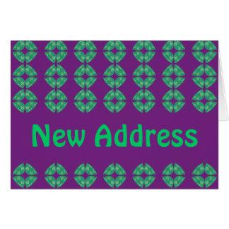 Starkes Retro der neuen Adresse Karte
