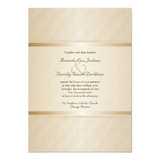 Starlight-goldenes Aufflackern-mit Monogramm 12,7 X 17,8 Cm Einladungskarte