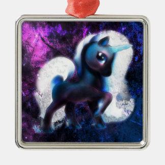 Starmist Einhorn Silbernes Ornament