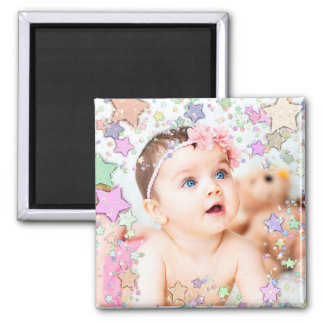 Starry Baby-Foto-Magnet Quadratischer Magnet
