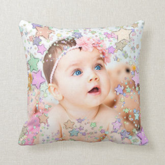 Starry Baby-Foto-personalisiertes Kissen