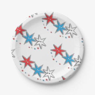 Starry Blicke - ein patriotischer Triothema Pappteller