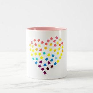 Starry Herz-Tasse Zweifarbige Tasse