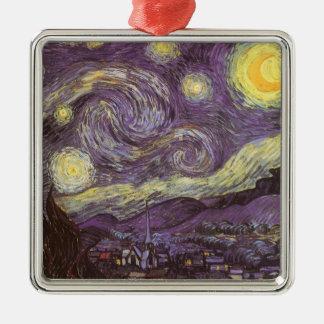 Starry Nacht durch Vincent van Gogh, Vintage feine Silbernes Ornament