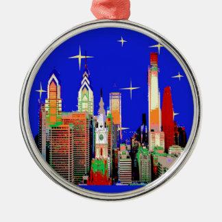 Starry Nacht Philadelphia, abstrakter Himmel mit Silbernes Ornament
