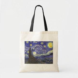 Starry Nacht Van Gogh, Vintage feine Tragetasche