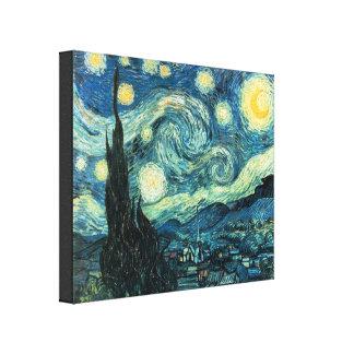 Starry Nacht Van Gogh wickelte Leinwand-Druck ein Galerie Gefaltete Leinwand